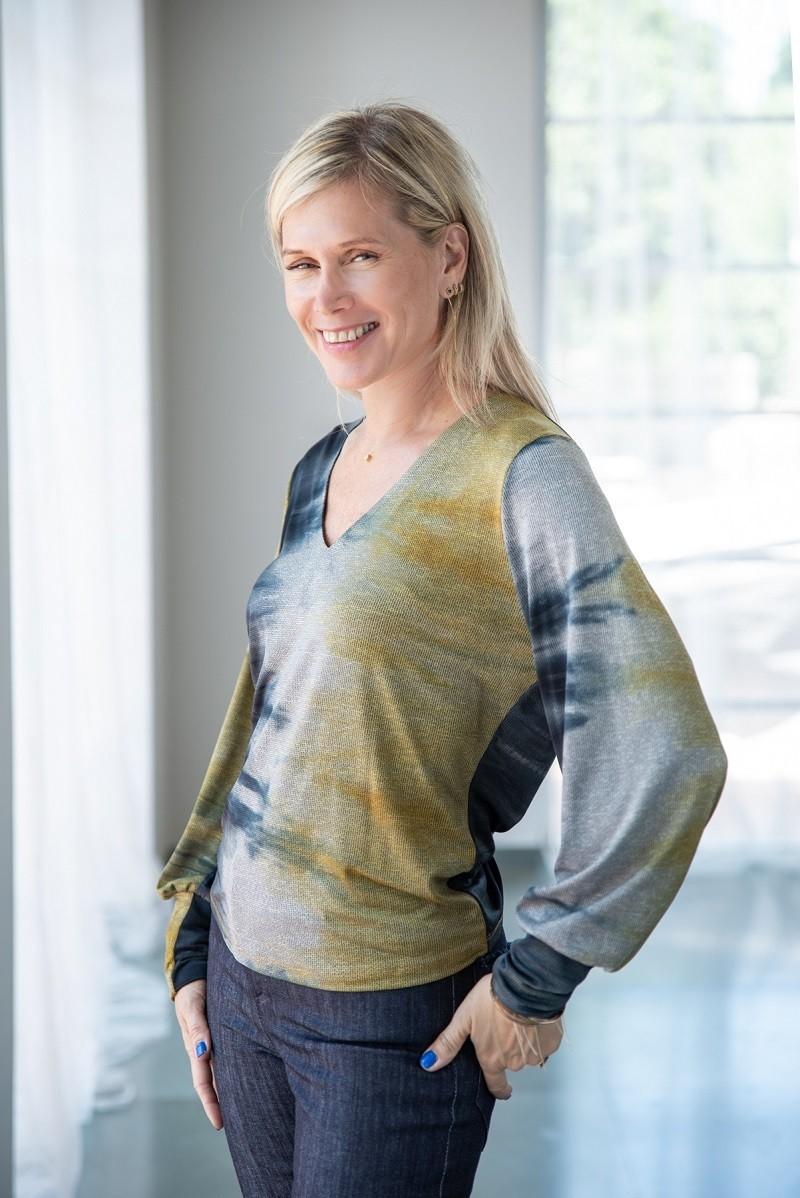 חולצת לורן צבעי מים