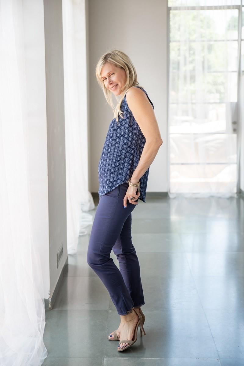 מכנסי איגי בצבע כחול