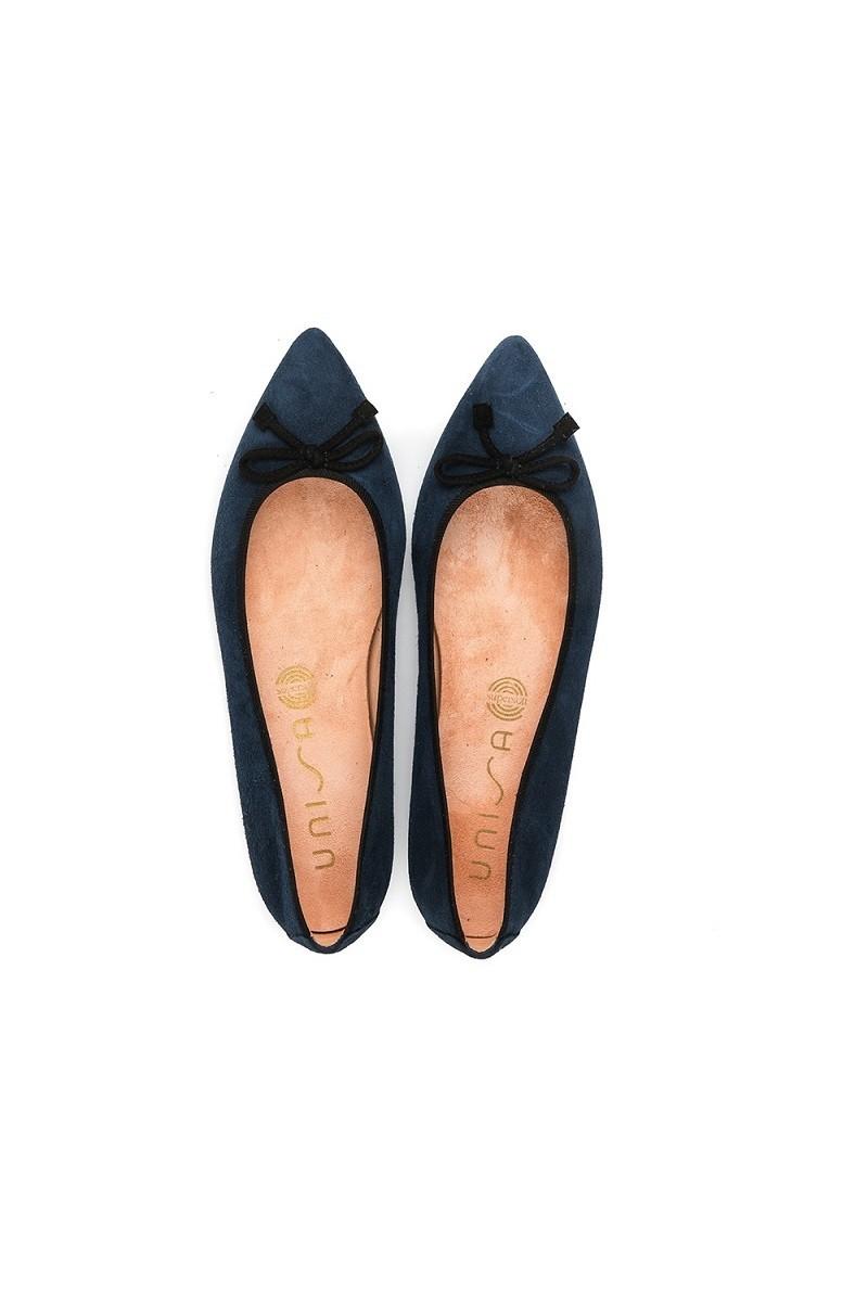 נעלי בלרינה כחול כהה